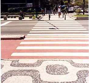 Disability advisors at Rio de Janeiro's Independent Living Center monitored access features for this street crossing, part of the Rio City Project.