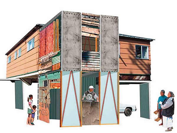 Manufactured Sites: Emergency Housing, Estudio Teddy Cruz
