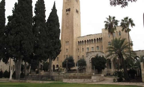 JERUSALEM INTERNATIONAL YMCA, 1933, Jerusalem, Israel.  Arthur Loomis Harmon, SHREVE, LAMB AND HARMON, Architect.  The Young Men's Christian Association (YMCA) building is celebrated as a wellspring of cultural, athletic, social and intellectual life for all who live in Israel and visitors to the country. (Contributor: Raymond Lifchez)